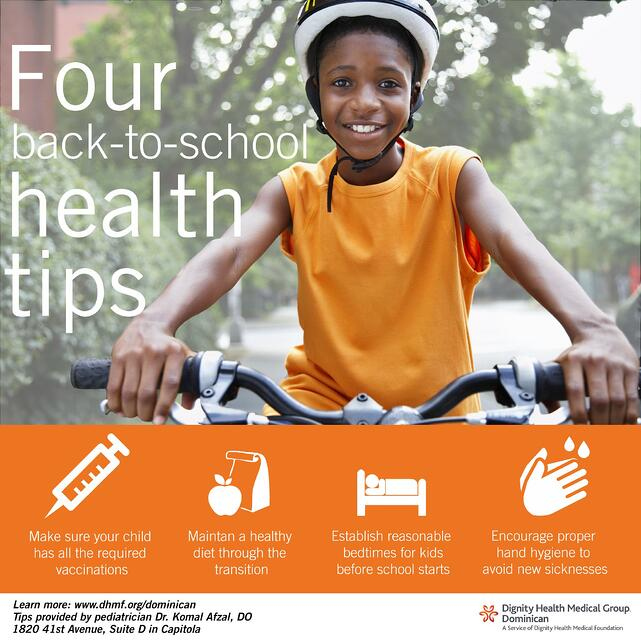 Tips for back-to-school health