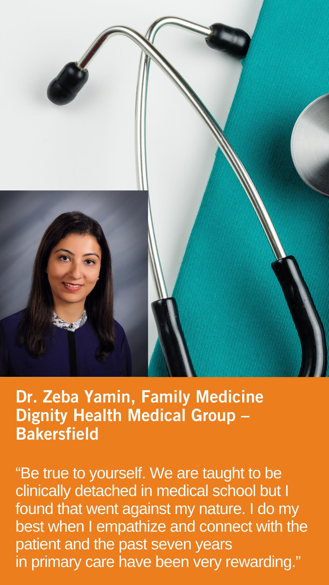Zeba Yamin, MD, Family Medicine, Dignity Health Medical Group — Bakersfield