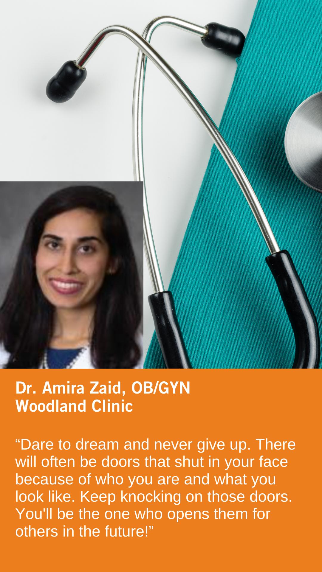 Amira Zaid, MD, Obstetrics & Gynecology, Woodland Clinic